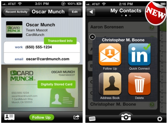 Linkedin acquires business card scanner cardmunch sets it free cardmunch is an iphone app that lets you scan business card apps to add information to your contact list the service might not sound unique but what sets colourmoves