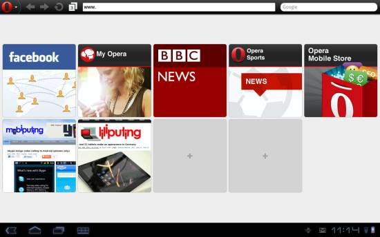 Opera Mobile 11.1
