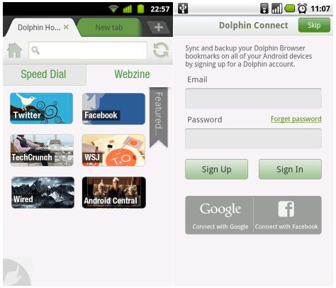 Dolphin Browser HD 7.0
