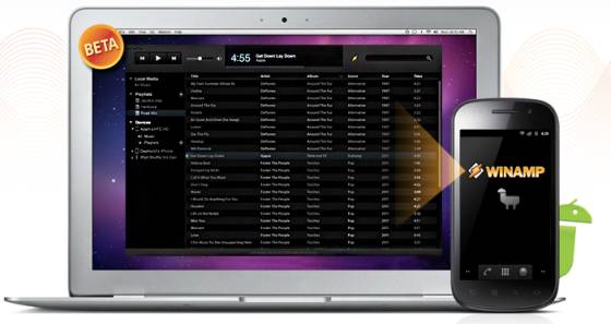 Winamp Mac Sync beta for Android