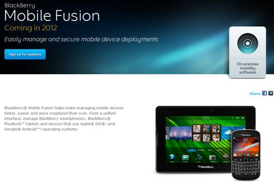 BlackBerry Mobile Fusion