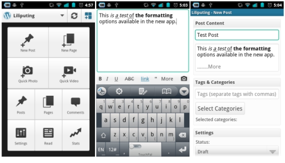 WordPress 2.0 for Android