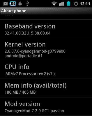 CyanogenMod 7.2 RC1