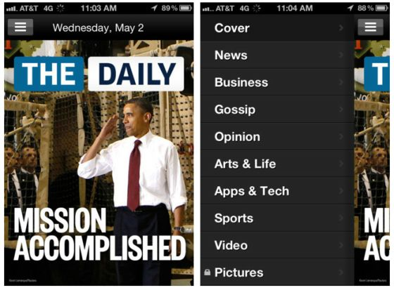 The Daily iPhone news app