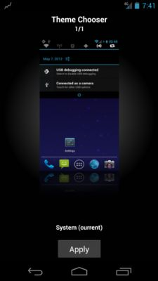 CyanogenMod 9 theme chooser