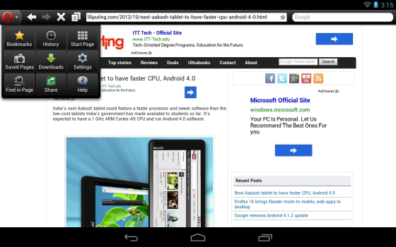 Firefox 16, Opera 12 1 web browser updates hit Android