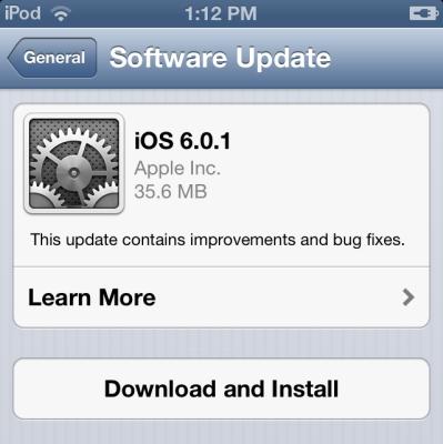 iOS 6.0.1