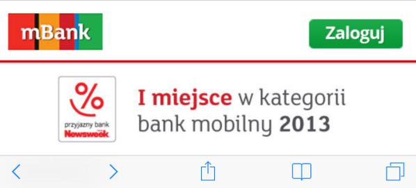 Bankowość mobilna w rankingu Newsweeka 2013