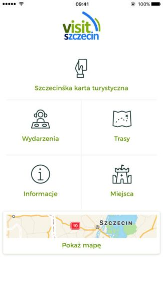 Aplikacja mobilna Visit Szczecin