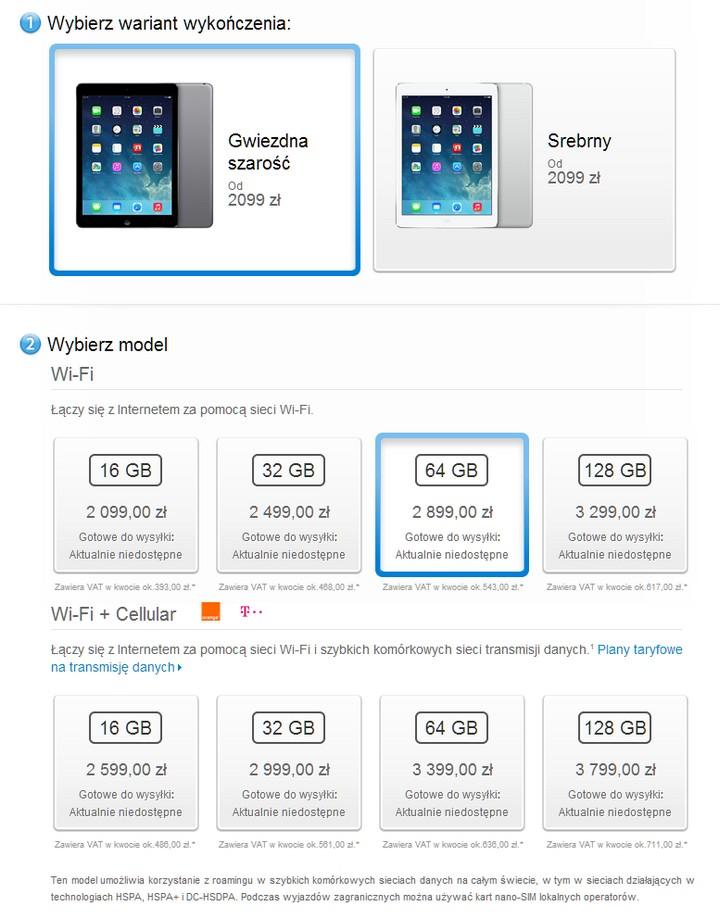 iPad Air - ceny