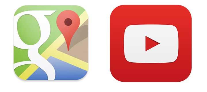 Google Maps i YouTube