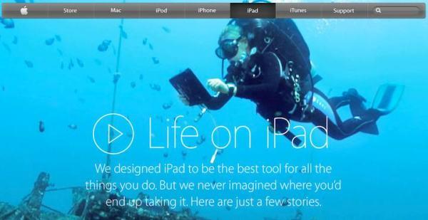 """Life on iPad"" specjalna podstrona iPada"
