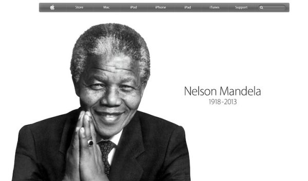Apple na swojej stronie składa hołd Nelsonowi Mandeli