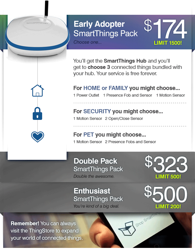 SmartThings hub pack
