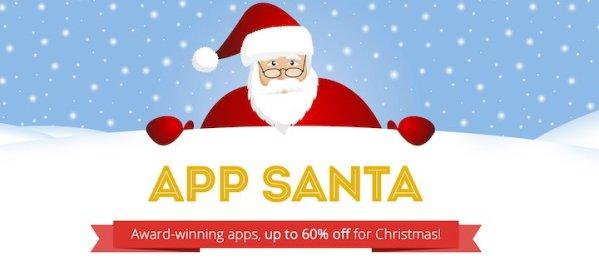 App Santa z 15 dużymi rabatami dla aplikacji na iOS-a