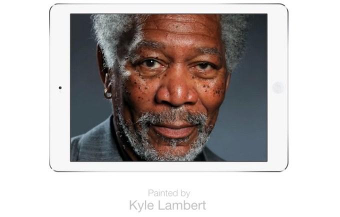 Morgan Freeman na iPadzie