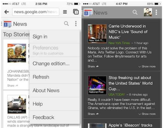 Google News mobile na iOS-a i Androida