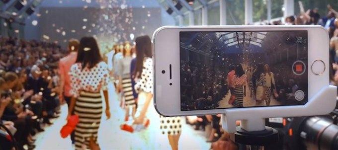 Pokaz mody nakręcony iPhone'em 5s