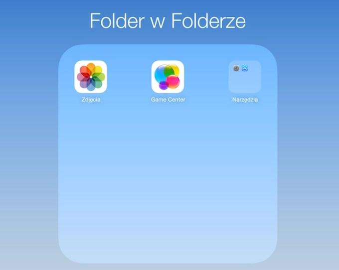 Folder w folderze na iOS 7.1