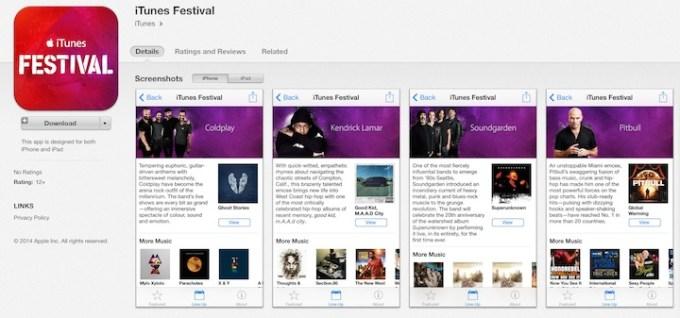 iTunes Festival wersja 5.0