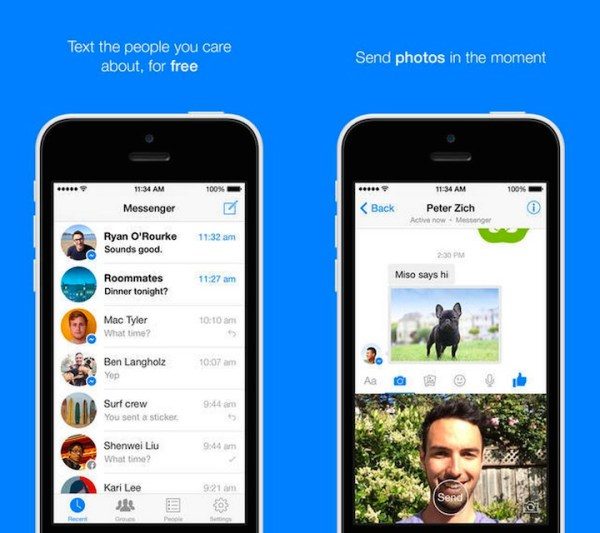 Facebook Messenger 5.0 z wiadomościami wideo