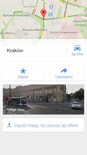 Mapy Google 3.0 tryb offline