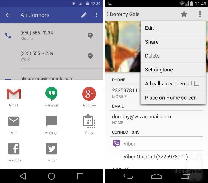 Aplikacja Kontakty w Androidzie #2