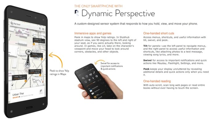 Amazon Fire Phone - Dynamic Perspective