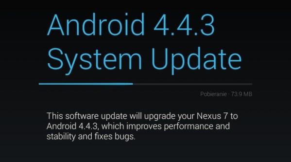Android 4.4.3 w trybie OTA