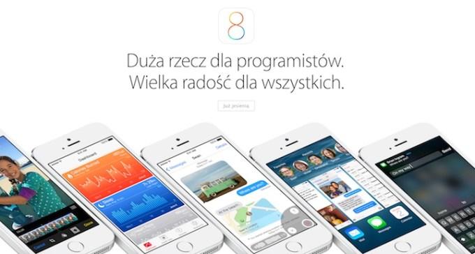 iOS 8 polska strona Apple'a