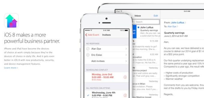 Rozwiązania dla biznesu w iOS 8