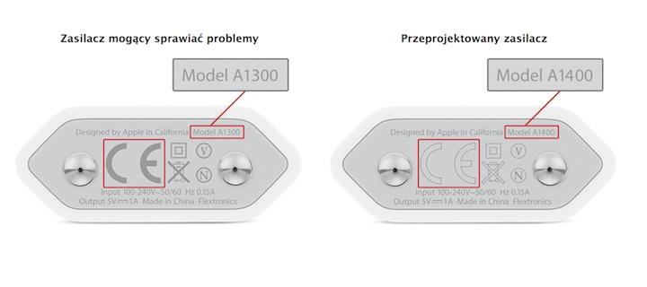 Zasilacze USB firmy Apple 5 W