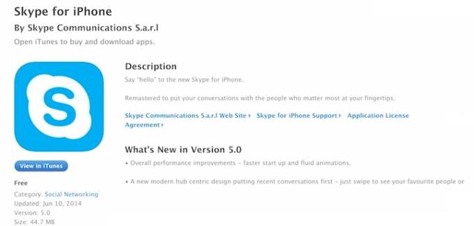 Skype 5 0 już dostępny w App Storze - mobiRANK pl