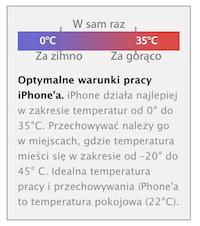 Optymalne warunki pracy iPhone'a