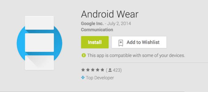 Aplikacja Android Wear