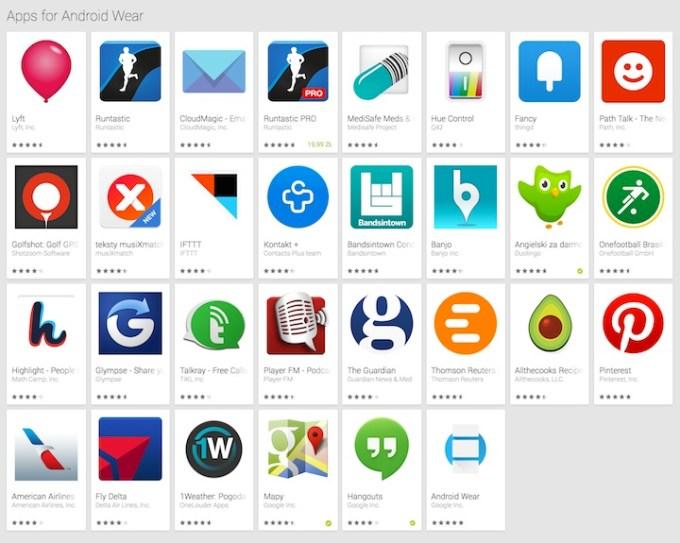 Lista aplikacji z kategorii Apps for Android Wear