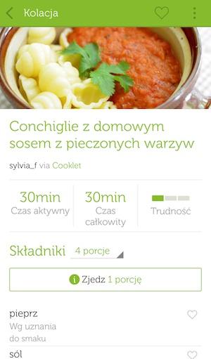 Aplikacja happie na Androida - screen