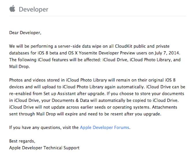 List do programistów od Apple'a