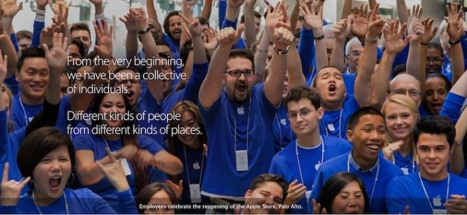 Zróżnicowanie wśród pracowników Apple'a