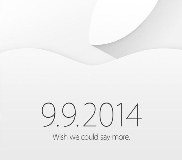 Zaproszenie Apple'a na konferencję 9 września 2014 roku
