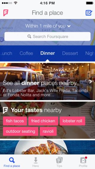 Foursquare - wyszukiwanie