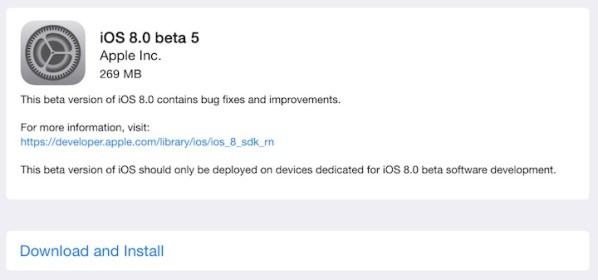 Apple udostępniło iOS 8 beta 5 dla deweloperów