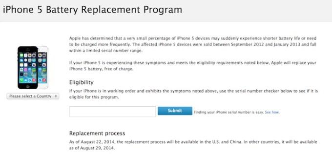 iPhone5 - program wymiany baterii