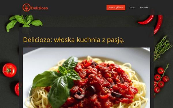 Jimdo - przykład szablonu WWW
