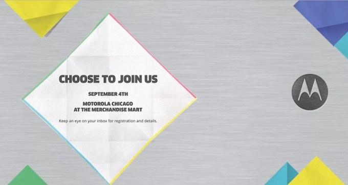 Motorola - konferencja 4 września