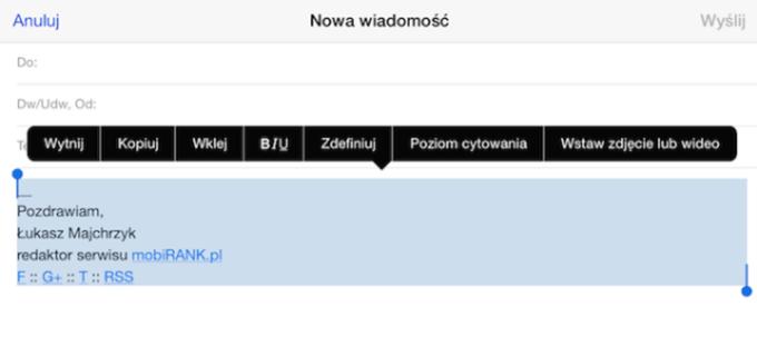 0492a190af6618 Jak stworzyć podpis e-mail w formacie HTML na iPhone'a i iPada ...