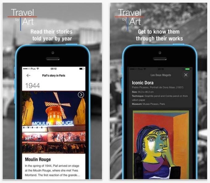 TravelbyArt - screeny aplikacji
