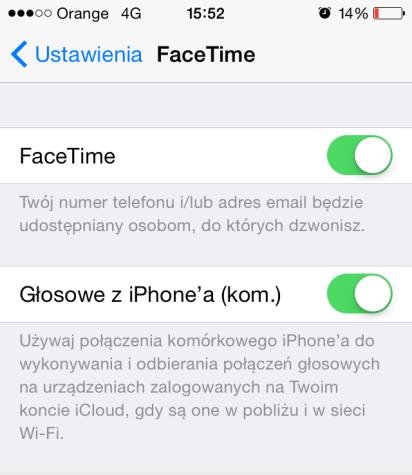odbieranie połączeń iPhone'a na innych urzadzeniach