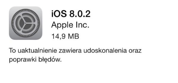 iOS 8.0.2 gotowy do pobrania!