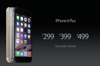 Cena iPhone'a 6 Plus